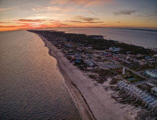 Aerial of St. George Island, Florida