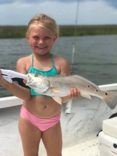 Hallie Kate with her Catch of the Day